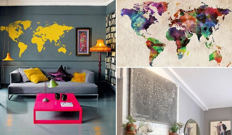 Vidd a világot a lakásodba, avagy ilyen csodásan mutatnak a térképek a falon
