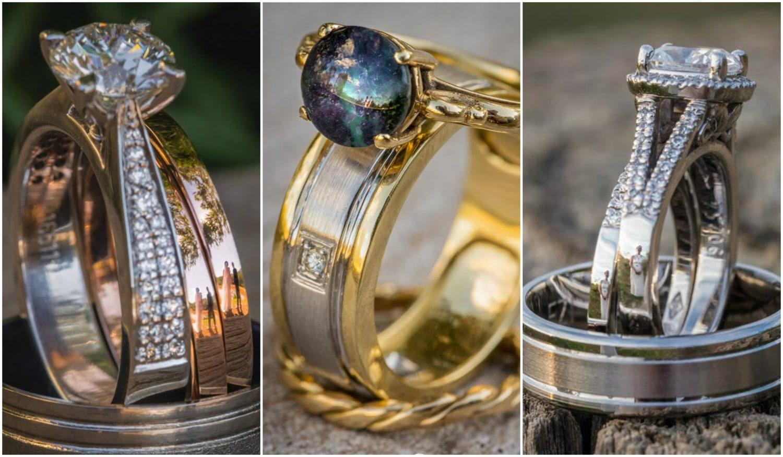 Gyűrűkön tükröződő szerelem – Különleges esküvői fotókat készít egy angol fényképész