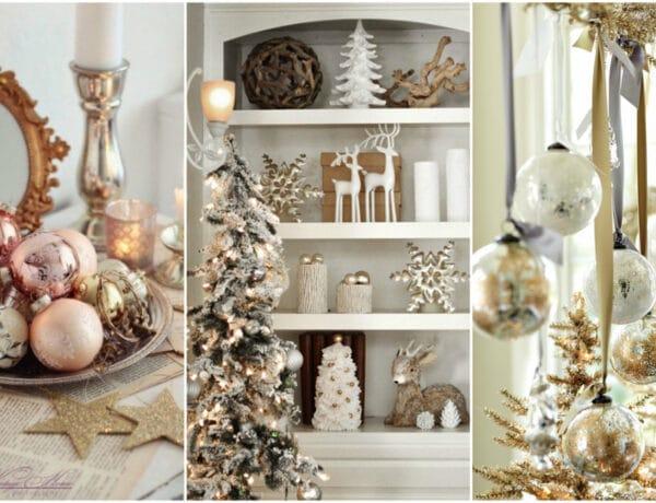 Ünnepi ragyogás – Karácsonyi dekoráció fémes árnyalatokkal