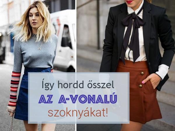 Így hordd ősszel az A-vonalú szoknyákat – maxi, midi és mini változatokban is!