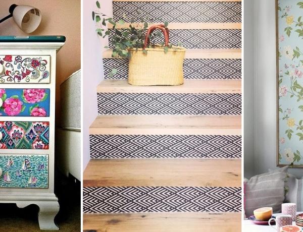 8 gyönyörű DIY projekt tapétával: nem csak a falat dobhatod fel vele