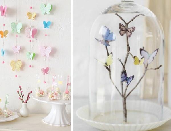 A legszebb pillangós lakásdekorációk tavaszra