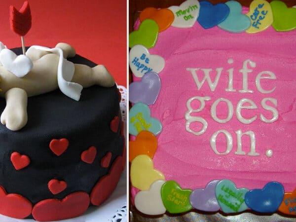 A válástorta, az új hóbort. Vicces sütemények, amik oldják a feszültséget