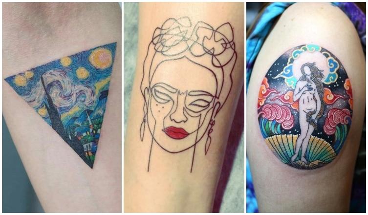 Csodaszép tetoválások, amelyeket híres festők ihlettek