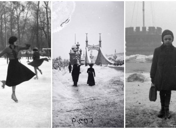 Ilyen volt régen a téli Budapest