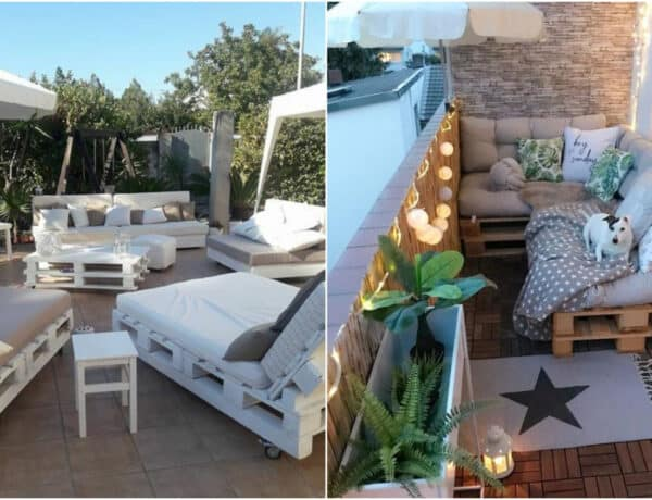 Kedvező az áruk és nagyon ötletesek – látványos raklap bútorok kertbe, balkonra