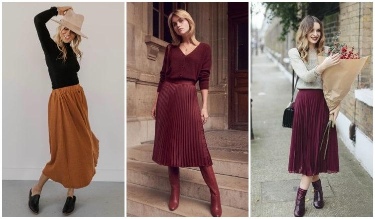 Romantikus és nőies – 5 izgalmas outfit midi szoknyákhoz
