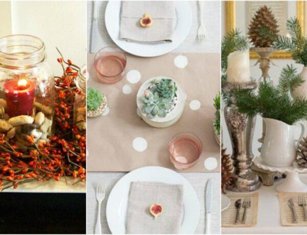 10 egyedi asztali dekoráció, amit pillanatok alatt elkészíthetsz