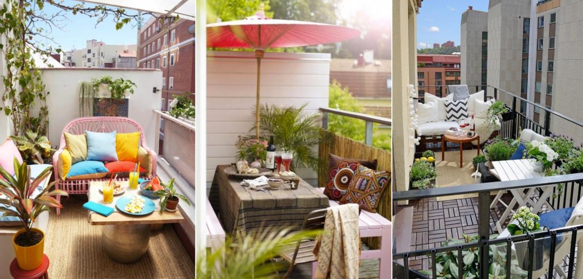10 otthonosan stílusos balkon alig pár négyzetméteren