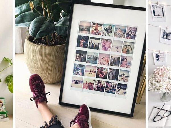 Újra divat a polaroid! 12 szuper dekoráció a kis fotókból