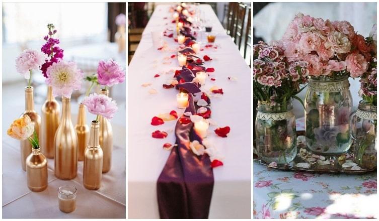 4 esküvői asztaldekoráció, ami látványos, mégis pénztárcabarát