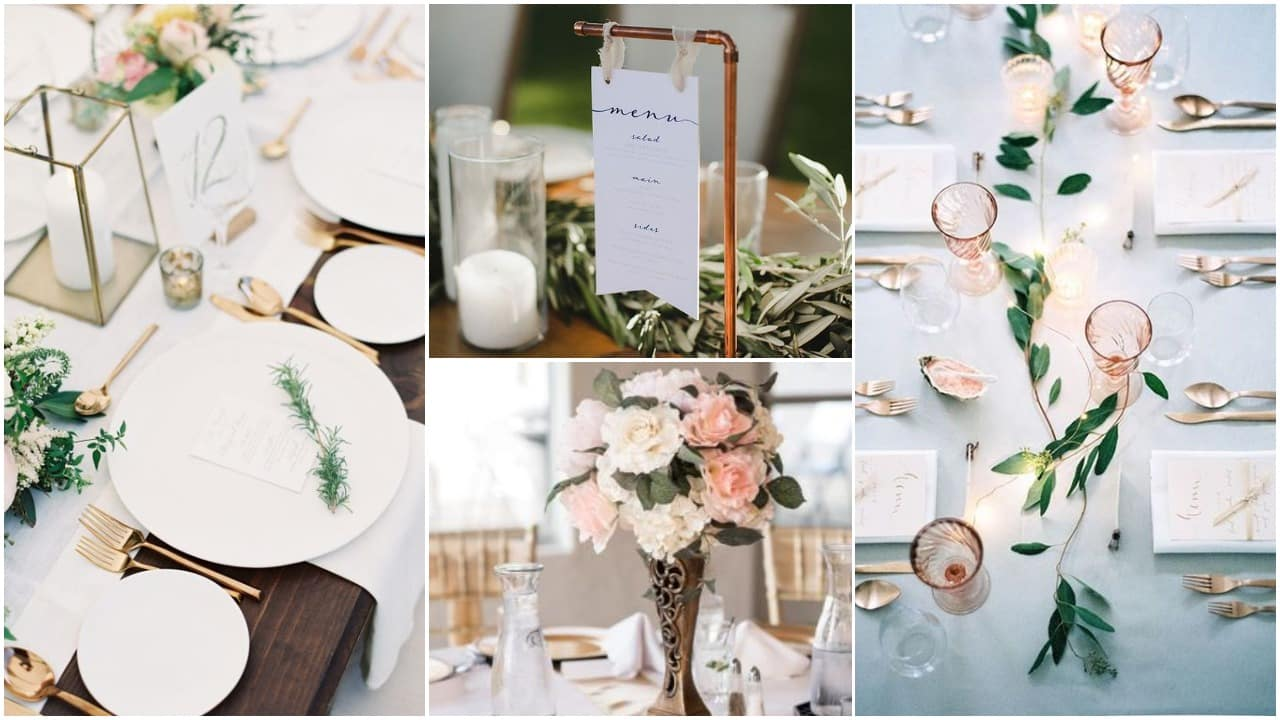 4 gyönyörű esküvői dekoráció a 2019-es trendek szerint