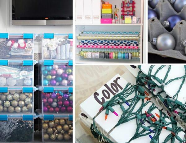 5 szuper trükk a karácsonyi dekoráció tárolásához