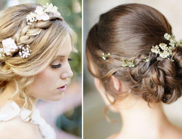 A legszebb esküvői trend 2021-ben: virágokkal díszített fonatok