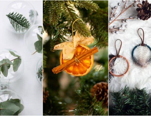 A természetnél nincs szebb dísz! DIY karácsonyfadíszek természetes anyagokból