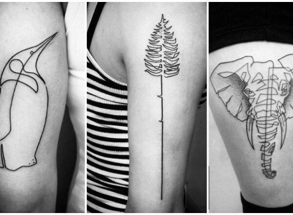 A tetoválómester, aki egyszerű vonalakból valódi műremeket alkot