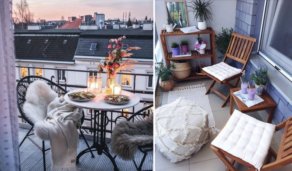 Aprócska balkonok óriási hatással – Ilyen bútorokkal érhetsz el hasonló látványt