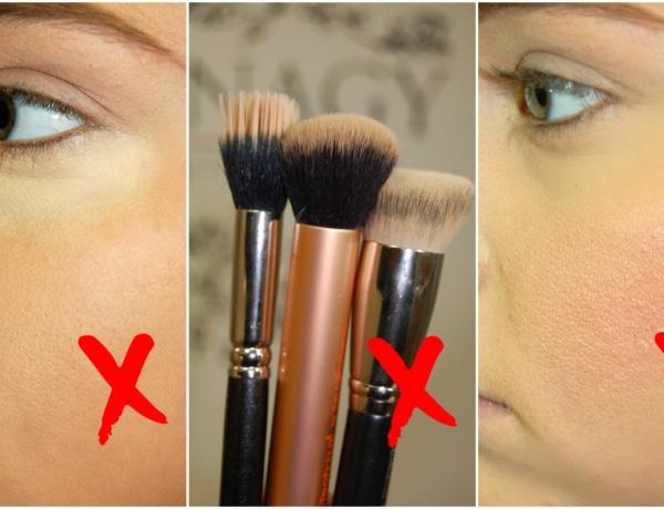 Az 5 leggyakoribb hiba, amit sokan elkövetnek sminkelés közben