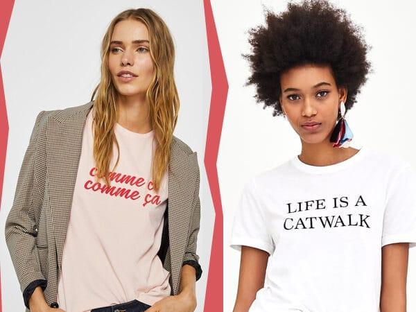 Az idei legkedveltebb trend: a feliratos póló