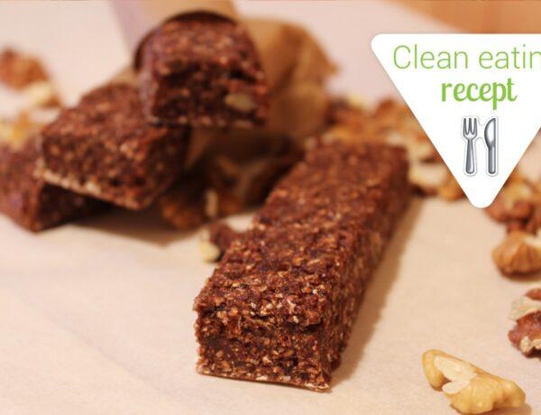 Clean Eating recept: Csokis-diós proteinszelet házilag