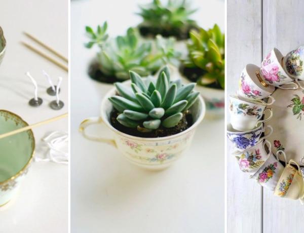 Csészéből dekorációt? 7 nem mindennapi ötlet