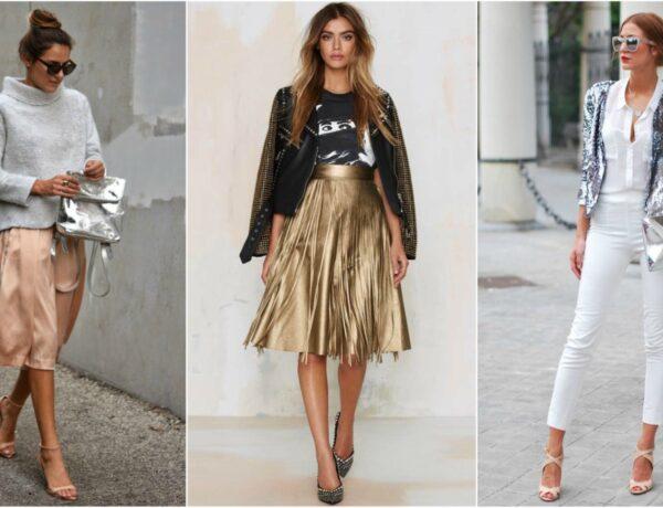 Csillogó ősz – Így viseld a metálfényű ruhadarabokat és kiegészítőket