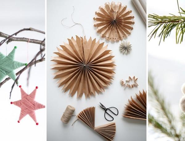 Csipesz, papír, fonal – Káprázatos karácsonyfadíszek fiókkacatból