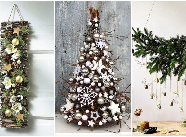 Csodaszép karácsonyi dekorációk, amiknek egyszerű ág az alapja