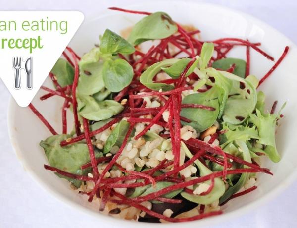 Egy könnyű tavaszi vacsora – Céklás bulgur saláta pirított magvakkal