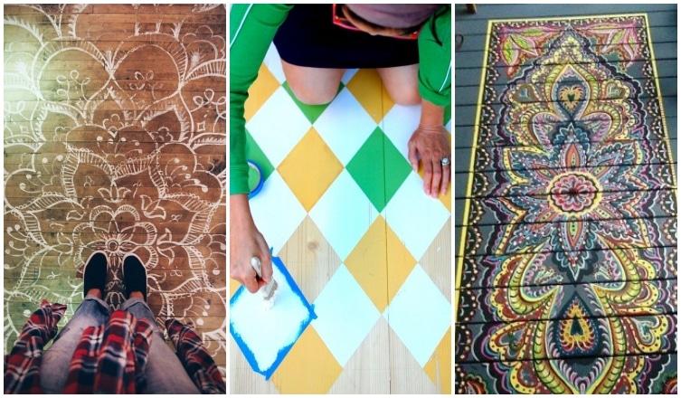 Ez már művészet! Inspiráló festett padlók
