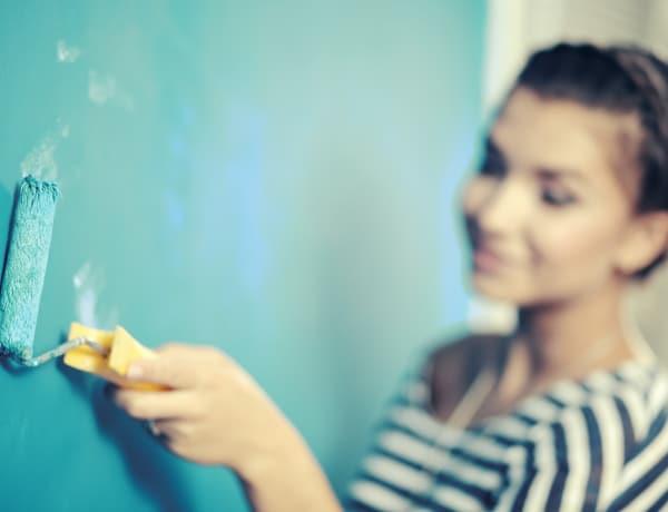 Falfestési technikák: ezzel a trükkel különleges hatást érhetsz el saját magad is