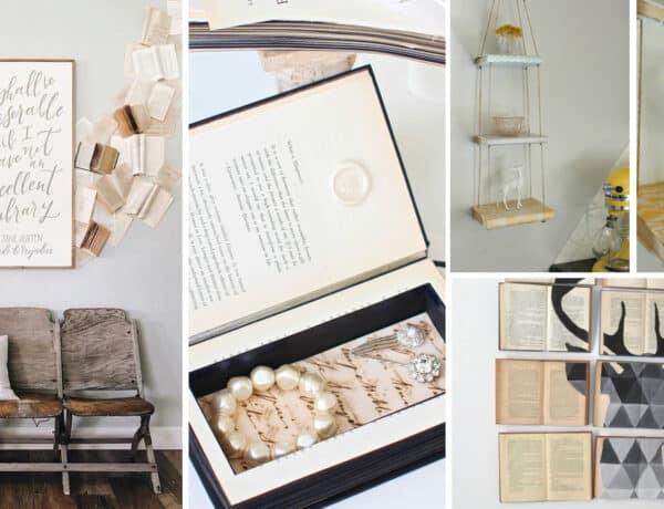 Fantasztikus dekorációk készülhetnek régi könyvekből – Inspirációk