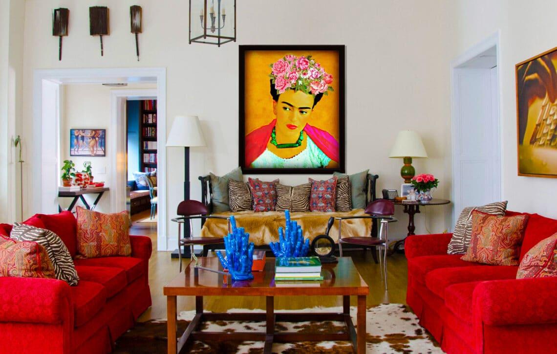 Festői lakberendezés: vibráló lakások Frida Kahlo stílusban