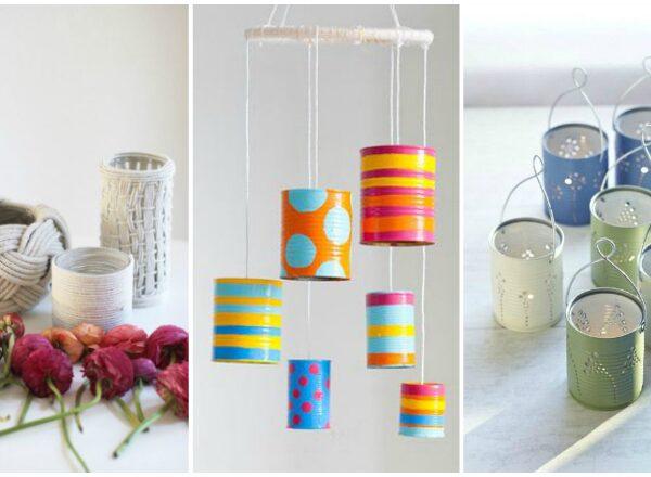 Néhány üres konzervdobozból lenyűgöző dekorációkat készíthetsz
