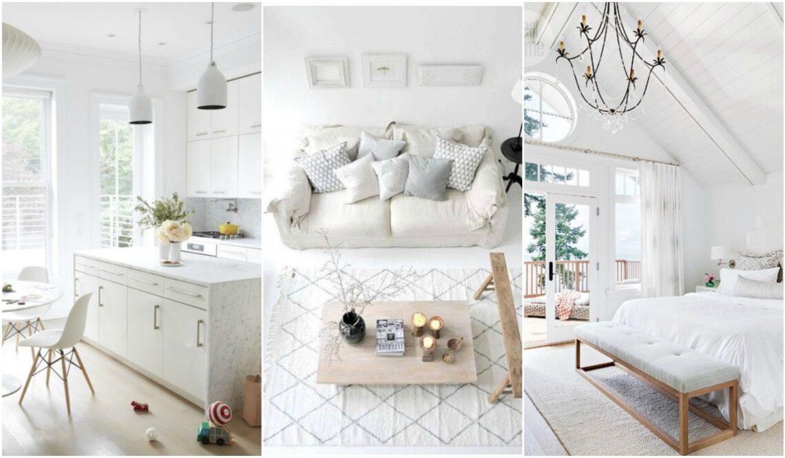 Gyönyörű fehér otthonok, amikbe azonnal beköltöznénk