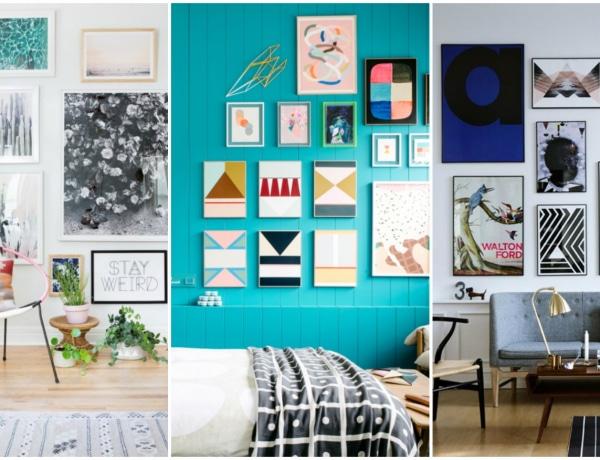 Gyönyörű gallery wall inspirációk – Te mit tennél ki a faladra?