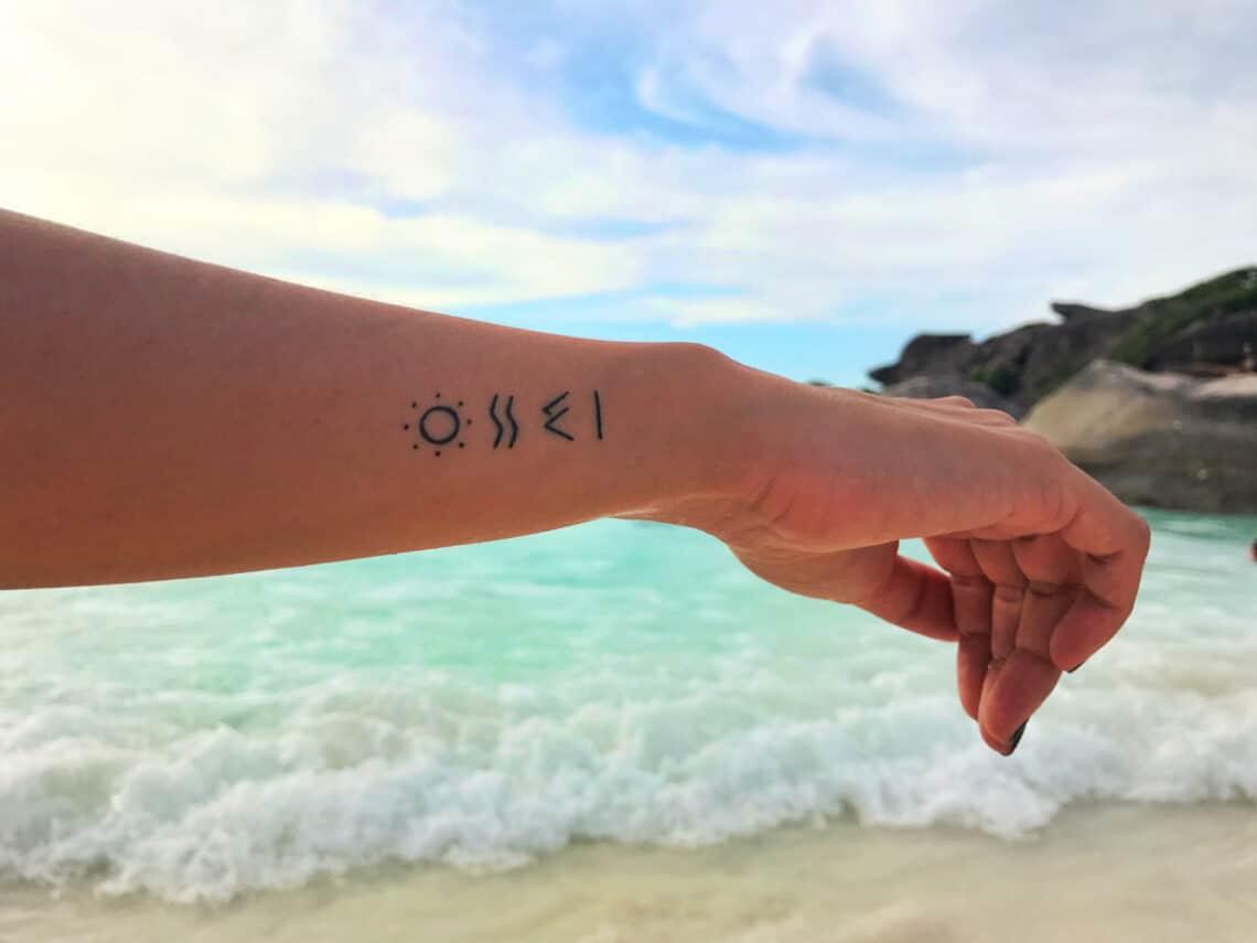 Gyönyörű nyári tetoválások, amelyek megőrzik a nyaralás emlékét