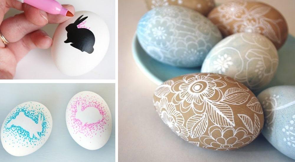 Gyors tojásfestés, festék nélkül! A legszebb húsvéti tojások filctollal