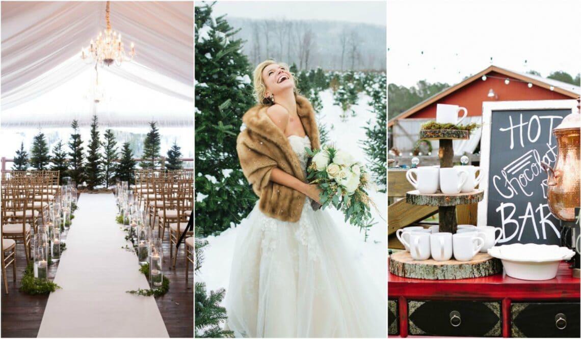 Hófehér romantika – Gyönyörű inspirációk téli esküvőhöz
