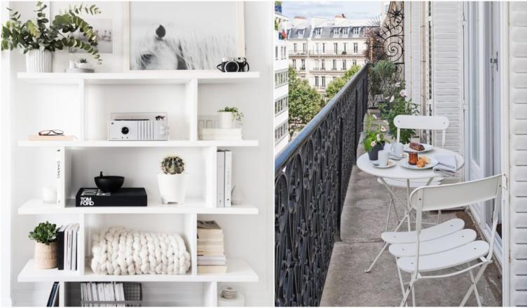 Lenyűgöző inspirációk fehér színnel lakásba, balkonra