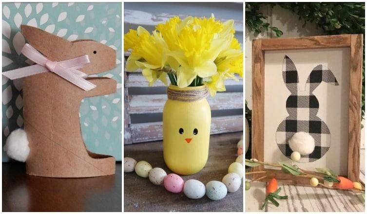 Húsvéti dekorációk, amikhez már minden kellék megvan otthon