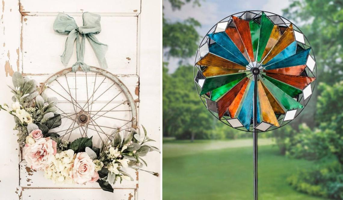 Hihetetlen, milyen dekorációk készülnek a régi biciklikerekekből – Te sem tudsz nekik ellenállni!