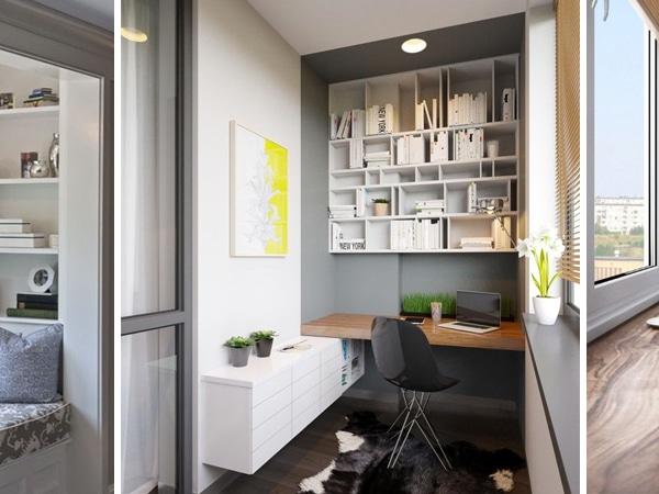 Kell még egy szoba? Kreatív felhasználása egy beépített erkélynek