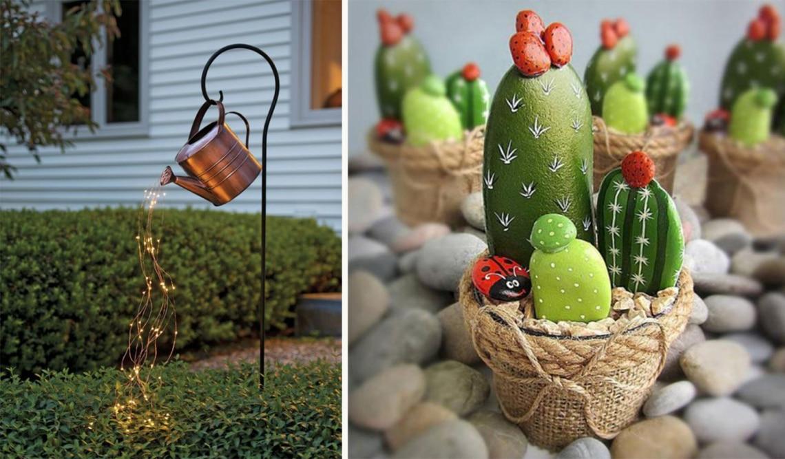 Kerti dekorációk, amiket bárki egyszerűen elkészíthet