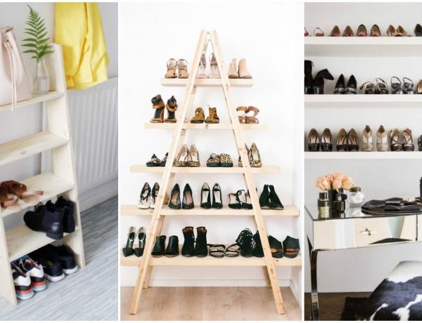 Látványos cipőtárolási megoldások, amiket imádni fogsz