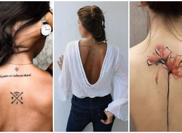 Lenyűgöző gerinc menti tetoválások többféle stílusban
