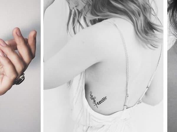 Minimalista tetoválások, amiket a konzervatívabb nők is szívesen bevállalnak