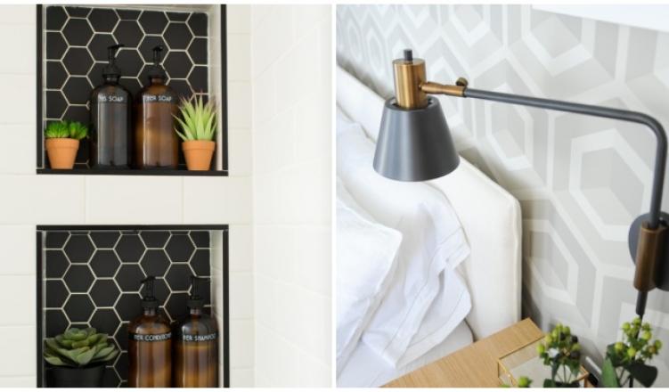 Trendi hexagon kiegészítők és dekorációk