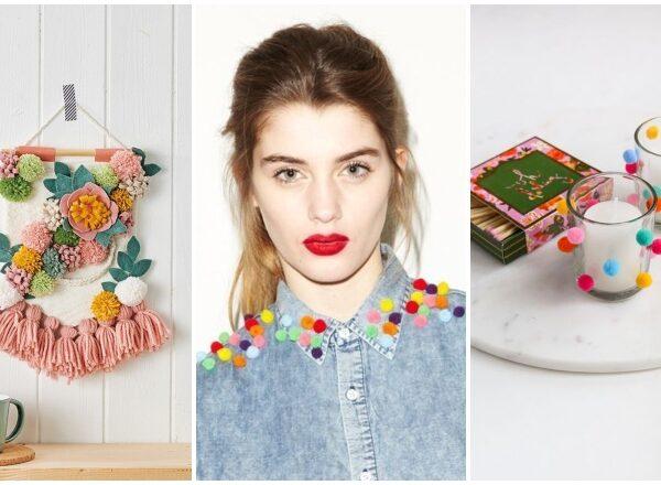 Pomponok mindenhol! DIY dekorációs és divattippek színes bojtokkal