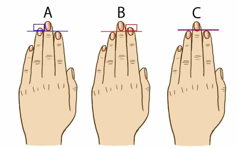 A gyűrűs- vagy a mutatóujjad a hosszabb? Sokat elárul a személyiségedről